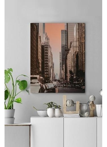 MarkaEv Canvas Şehir Manzara Tablo 0131 Renkli
